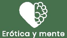 Logo erótica y mente blanco